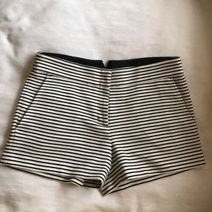 BCBG striped cotton stretch shorts